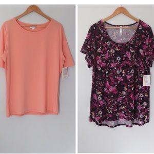 LuLaRoe Gigi short sleeve shirts bundle size 3XL